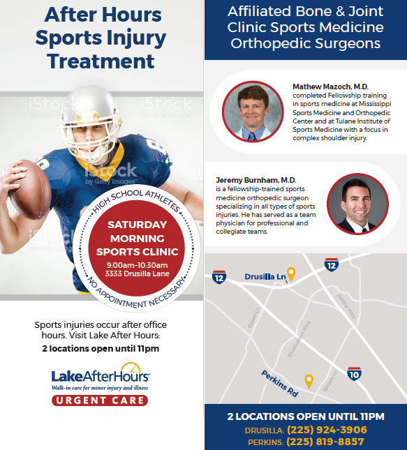 Sports Injury Clinic On Friday Night Saturday Bone Joint